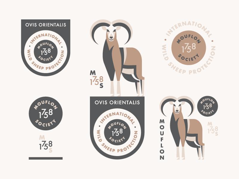 Mouflon (Branding Explorations) illustration badge logo branding