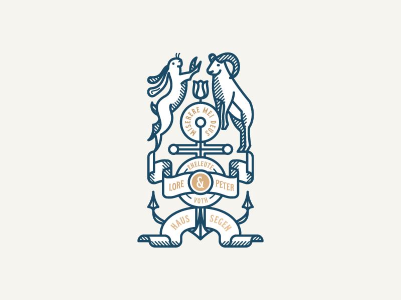 Haussegen seal coat of arms heraldic