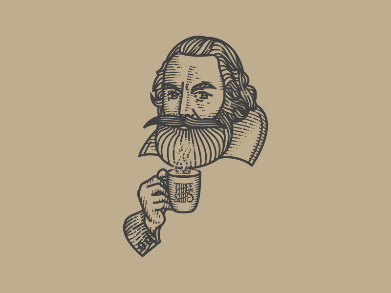 Captain John Smith vector engraving illustration