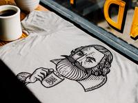 Three Ships Coffee (Shirt Design)