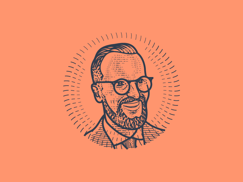 Self-Portrait illustration engraving vector