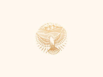 Song of Solomon landscape vineyard dove engraving icon illustration logo