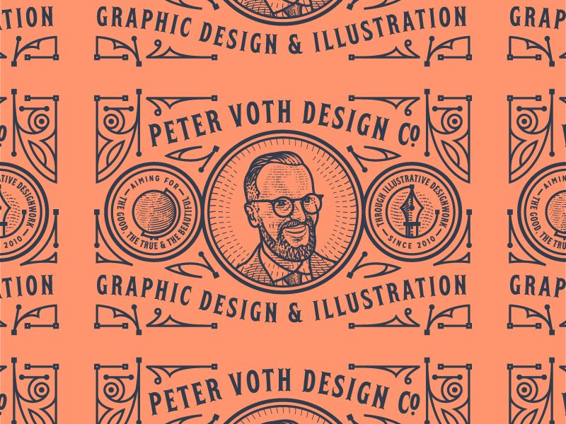 Peter Voth Design Co. engraving logo branding badge illustration