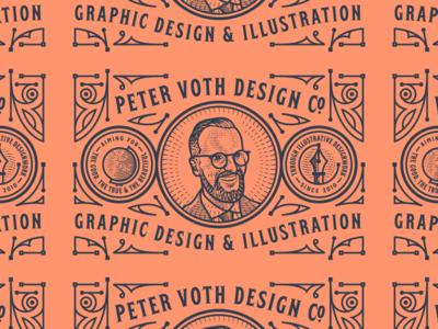 Peter Voth Design Co. engraving logo branding badge illustration