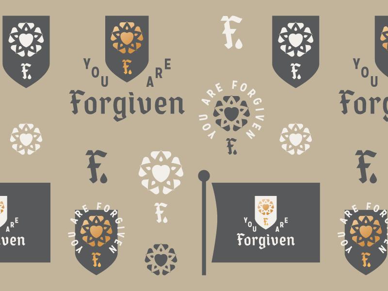 You Are Forgiven  (Explorations) branding brand logo