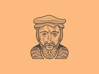 John Calvin (Line Engraving Portrait)