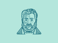 C.H. Spurgeon (Line Engraving Portrait)