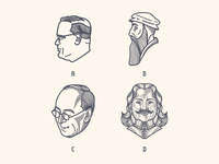 Peter Voth Design — Vector Line Portraits