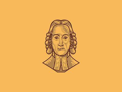 Jonathan Edwards (Line Engraving Portrait) illustrator illustration woodcut etching line engraving engraving