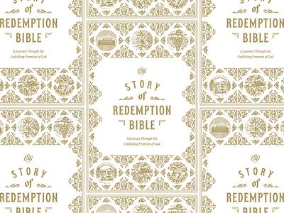 ESV Story of Redemption Bible — Title Page Exploration scratchboard illustration graphic design line art engraving etching