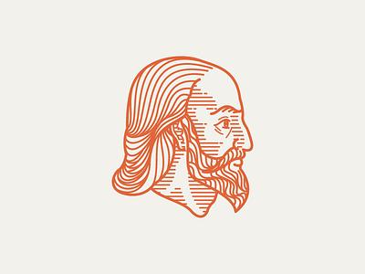 ANSELM (1033-1109) • (02/53) woodcut scratchboard etching engraving portrait illustration