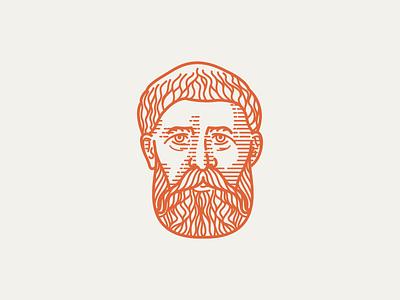 AUGUSTINE (354-430) • (03/53) vector illustration line art scratchboard line engraving engraving
