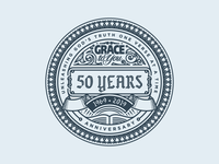 Grace To You — 50 Years Badge