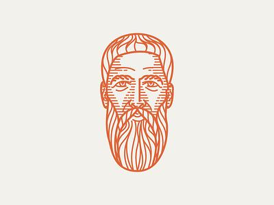 BASIL OF CAESAREA (329–368) • (05/53) line art vector scratchboard line engraving etching engraving illustration