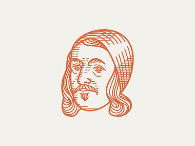 RICHARD BAXTER (1615–1691) • (06/53) crosshatching etching portrait line art line engraving engraving illustration