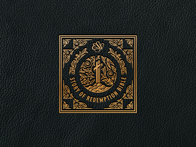 ESV Story of Redemption Bible (Leather Badge)