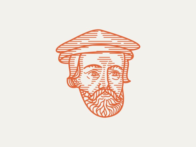 JOHN BRADFORD (1510–1555) • (09/53) peter voth illustration peter voth design line engraving wood engraving woodcut crosshatching etching engraving illustration