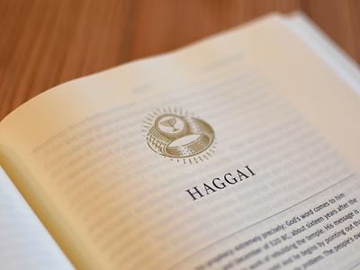 Haggai peter voth design etching engraving icon logo vector badge illustration