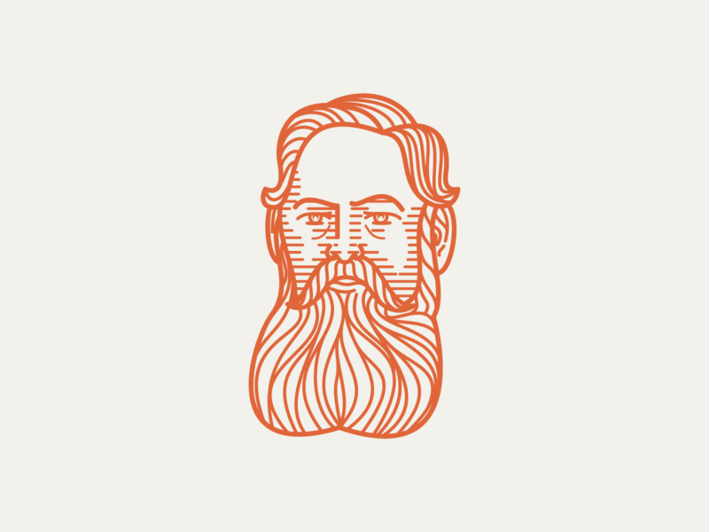 RICHARD BROOKE (1840–1926) • (10/53) peter voth design engraving icon logo vector illustration