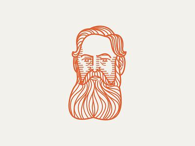 RICHARD BROOKE (1840–1926) • (10/53) peter voth design engraving icon logo vector illustration