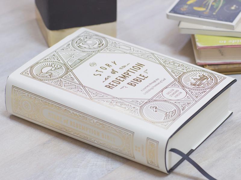 ESV Story of Redemption Bible bible design bible book design vector peter voth design filigree etching engraving illustration
