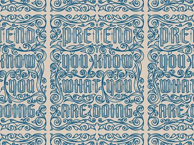 Letterpress Calendar 2019 • Peter Voth etching ornament filigree engraving vector illustration mrcup peter voth design