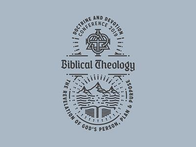 Biblical Theology (Badge) etching peter voth design icon engraving logo vector badge illustration