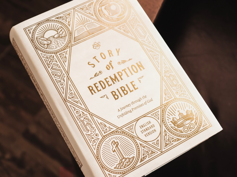 ESV Story of Redemption Bible (Detailed Shots) line art bible design bible etching peter voth design vector engraving illustration