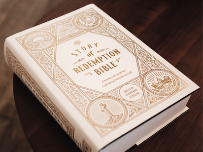 Greg Gilbert on the new »ESV Story of Redemption Bible« etching vector badge engraving illustration peter voth design