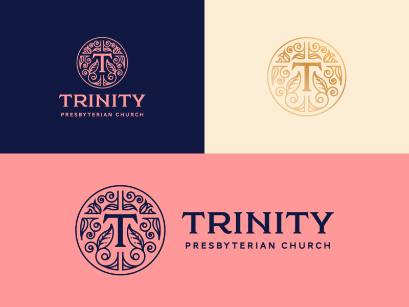Trinity Presbyterian Church San Diego line art illustrator etching branding peter voth design icon engraving logo vector badge illustration