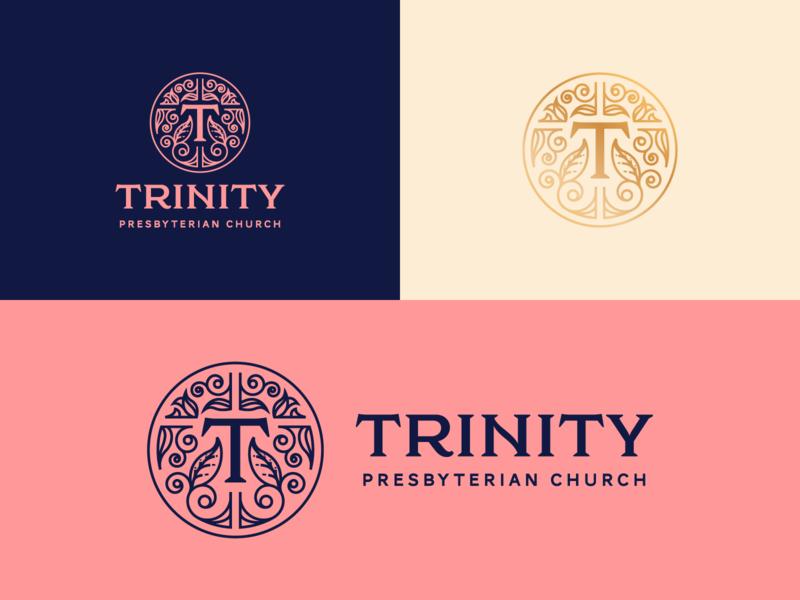Trinity Presbyterian Church San Diego line art illustrator etching branding peter voth design icon engraving logo vector badge illustration