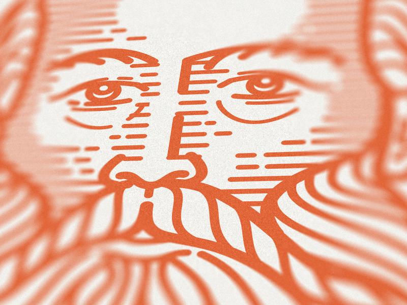 ESV Prayer Bible • (Portraits 17-20) face bible art portrait bible crosshatching woodcut graphic design line art vector etching illustrator peter voth design icon engraving logo illustration