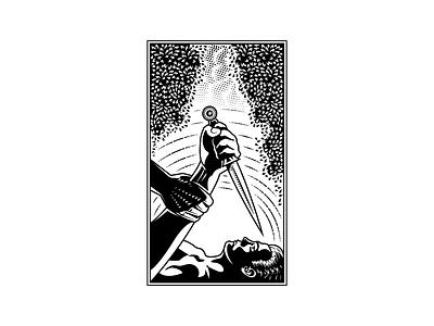 Binding of Isaac woodcut peter voth illustration design line art illustrator engraving vector etching peter voth design illustration