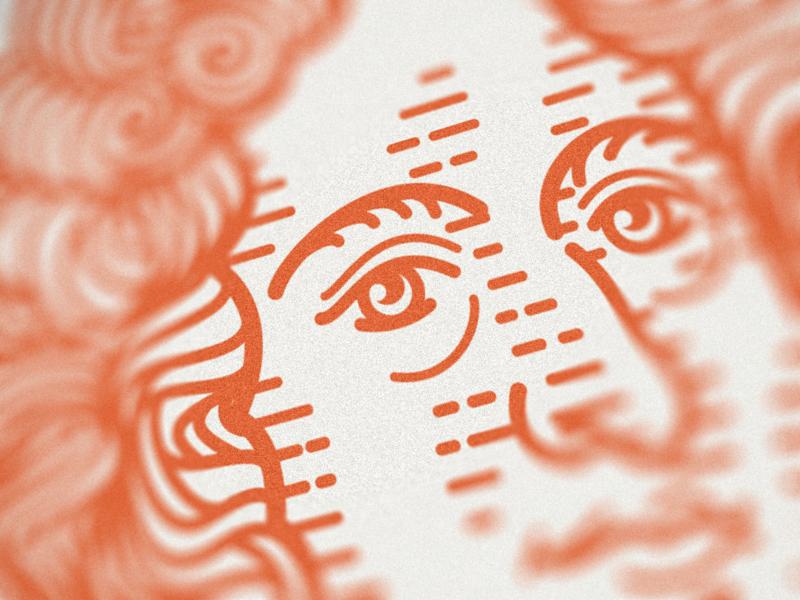 ESV Prayer Bible • (Portraits 21-24) portrait face line art graphic design illustrator branding etching peter voth design icon engraving logo vector badge illustration