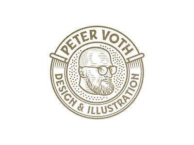 Peter Voth • Design & Illustration (2019) portrait vintage line art graphic design illustrator branding etching peter voth design icon engraving logo vector badge illustration
