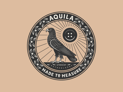 Aquila eagle vintage line art graphic design illustrator branding etching peter voth design icon engraving logo vector badge illustration
