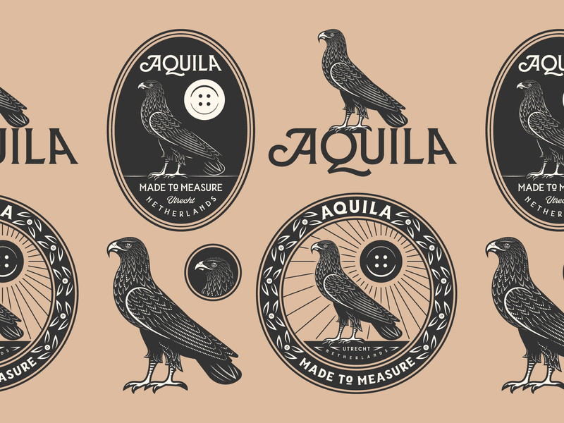 Aquila pt. II aquila responsive branding eagle graphic design illustrator branding etching peter voth design icon engraving logo vector badge illustration