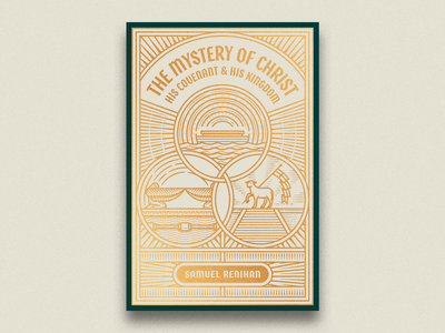 The Mystery of Christ (Bookcover) cinder graphic design line art bookcover illustrator etching peter voth design engraving illustration
