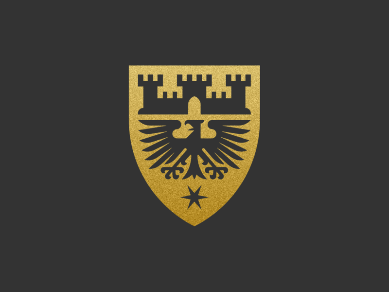 Düren heraldic crest graphic design illustrator peter voth design icon logo vector badge illustration