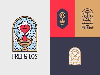 Frei & Los graphic design branding illustrator etching peter voth design icon engraving logo vector badge illustration