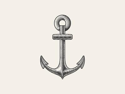 Goop Anchor branding graphic design logo vector line art illustrator etching engraving peter voth design illustration