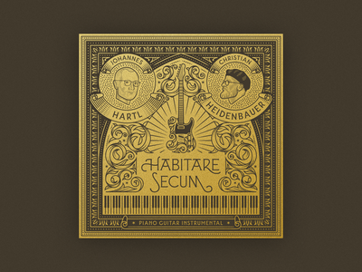 Habitare Secum pt. II woodcut graphic design line art illustrator etching peter voth design engraving badge illustration
