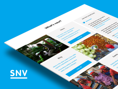 SNV.org - What's new page