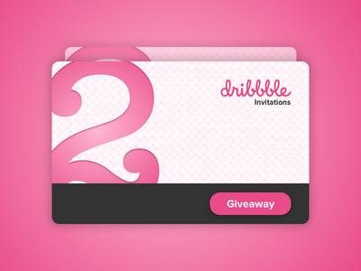 Dribbble Invitation (2x) draft thank you giveaway gift card gift creditcard card community invitations invitation invite dribbble