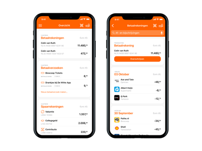 ING Bank app redesign transaction payment request finance mobile banking iphone 10 ios11 iphone x ing redesign ing app ing bank ing