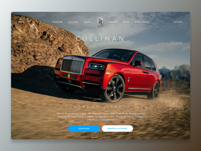 Cullinan dailyui website rocks car auto suv off road luxury cullinan cars motor rolls royce