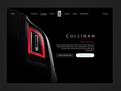 Cullinan Reveal website suv sketch rolls royce principle off road motor luxury cullinan cars car auto