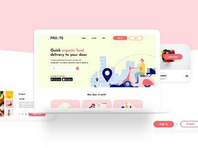 Grocery Store Web xd sketch kit ui kit shop organic shop groceries grocery grocery store store ecommerce