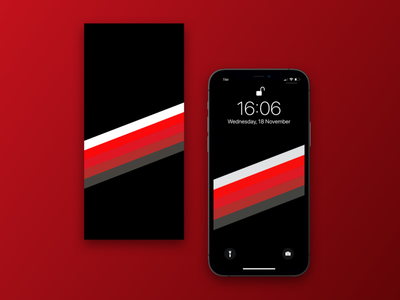 Stripes AC Milan Iphone 12 bands stripes sketch illustrator design ux ui 12 iphone football soccer ac milan black red