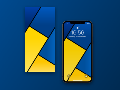 Rectangles abstract wallpaper. sketch gradient yellow blue illustrator iphone ux ui